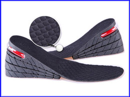 Wholesale Increased Pad - 9cm PU Air Cushion Insole 4 Layer Height Increase Shoe Pads Black 200pairs