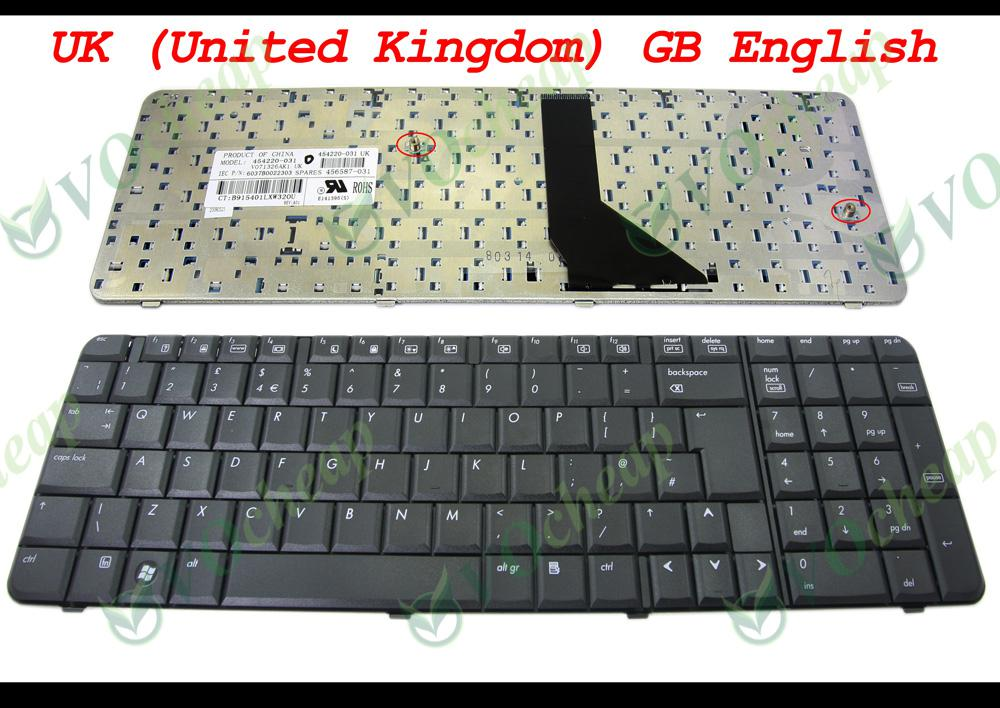 BRAND NEW FOR HP PAVILION G6 G6-1000 NOTEBOOK LAPTOP ENGLISH KEYBOARD UK LAYOUT BLACK COLOUR