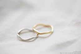 Wholesale Silver Wedding Ring Waves - 10pcs lot Fashion costume jewelry,Gold Silver Rose Gold plated wave rings for women,European slim wave knucle rings, JZ061