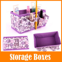 Wholesale Cheapest Household Items - New Cheap Cosmetics Storage box Foldable Nonwoven Storage Boxes For Makeup Jewelry Household items Dropshipping
