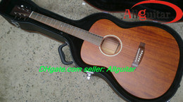 Wholesale Guitar Top Wood - All Solid Guitar 15M Acoustic guitar Real Mahogany Top Back Sides Wood China Guitar