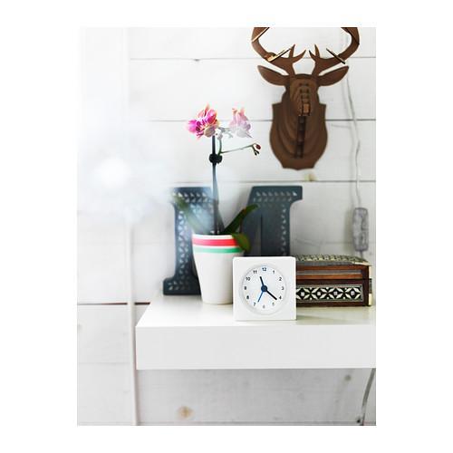IKEA Fashion blanc réveil horloge Quadrate Original Bureau horloge ...