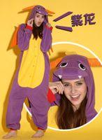 Wholesale Cat Underwear Cotton - dragon comfortable long sleeve Sleepwear underwear jumpsuits cosplay costume pyjamas bear  bunny  Corgi panda cat wolf pikachu batman