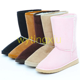 Wholesale Warm Tan - Wholesale-2014 HOT female winter snow boots women fashion boots shoes new high-leg warm plush boots big size free shipping