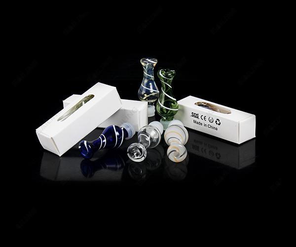 Embouts d'égouttement en ruban de verre Grip Drip Tip Ming Drip Tip EGO 510 Embouchures d'atomiseur pour CE4 E Cig Vivi Nova UDCT Evod E Cigarettes