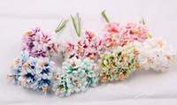 Wholesale Cheap Wedding Arrangements - Wholesale-3-4cm,cheap artificial silk chrysanthemum flower with pistil gerbera bouquet,diy craft arrangements&wedding decoration garland