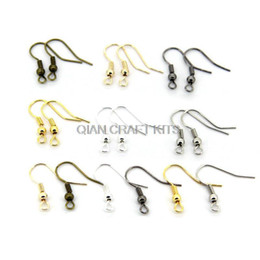 Wholesale Bronze Earrings Hooks - set of 1000pcs (500pairs) mixed colors Silver ,gold,antique bronze,hematite Hypo-Allergenic Earring Hooks lead and nickle free