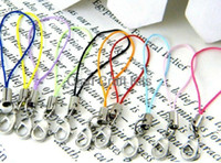 Wholesale Phone Strap Lobster Clasp - 500pcs cell phone straps mixed colors witth lobster clasps bulk wholesales
