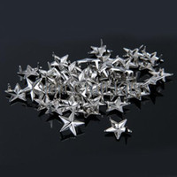Wholesale Diy Cell Phone Decorations - 1000pcs 10mm silver star Rivet Pyramid Studs for Cell Phone decoration, Deco, Leather, Craft , DIY, Jean, denim