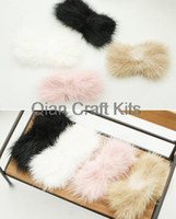 Wholesale 10pcs Cute mixed color fur covered bow cabochon mm genuine Mink fur bow or you pick colors