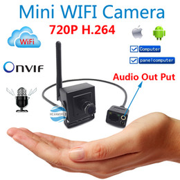 Wholesale Mini Camera Cctv Audio - New 720P mini IP camera Hidden wireless p2p cam Onvif HD wifi cameras cctv security system with audio for home door video