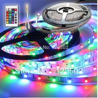Wholesale Mail Light - RGB 3528 SMD 60 LED   M LED Strip Light + 24key Remote Control + Free mail