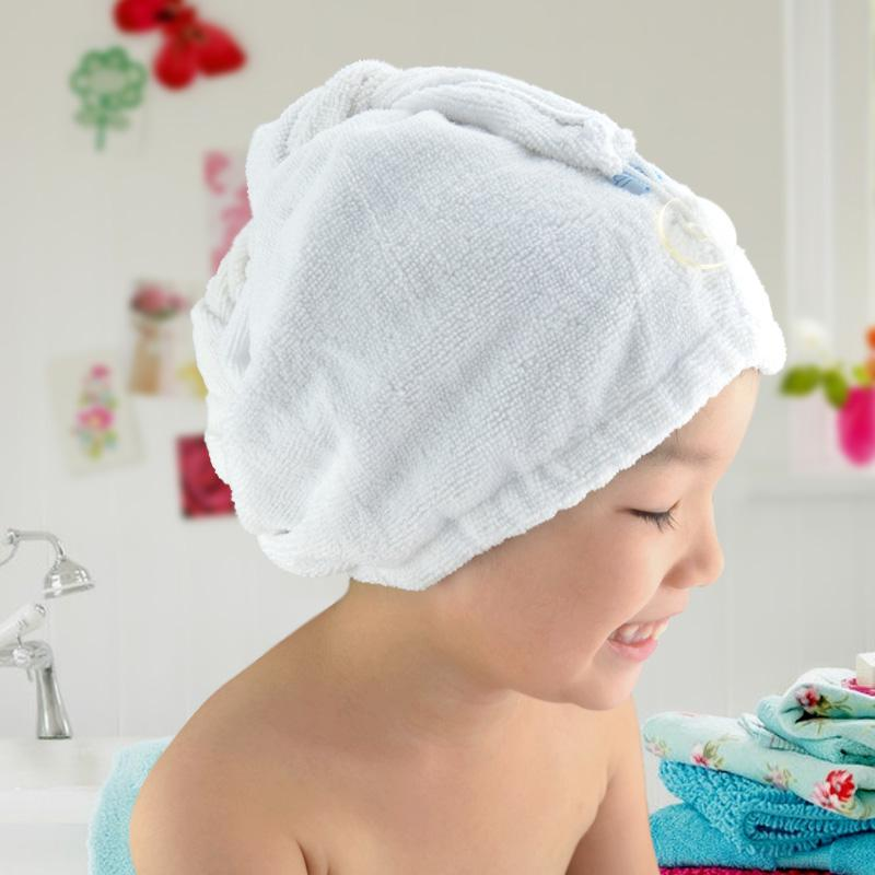 2019 Kids Child Dry Hair Shower Cap Hair Towel Fast Drying Hair