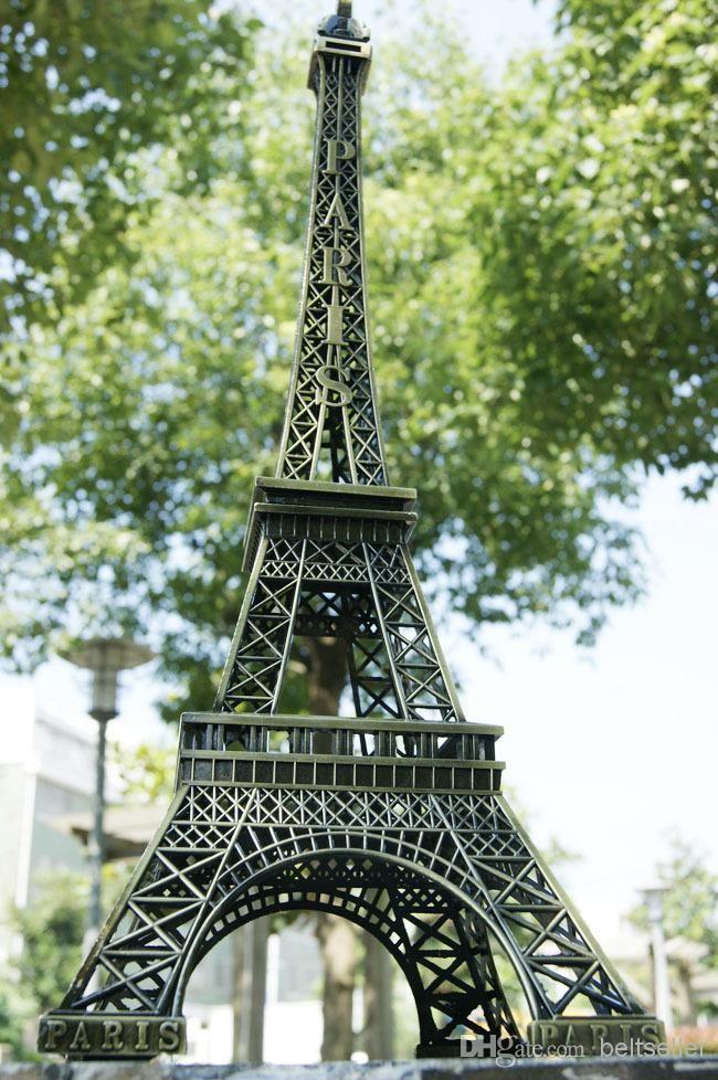 72CM (28.3inch) طويل القامة خمر 3D باريس برج ايفل معدن نموذج برونزية اللون والحرف اليدوية لإطلاق نار الدعامة الرئيسية موائد العرسة مستلزمات ديكور