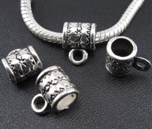 Legierung Bails spacer Perlen Antik Silber Bronze Für Charms Für DIY Halskette Schmuckherstellung Erkenntnisse 8x11mm Loch 5mm