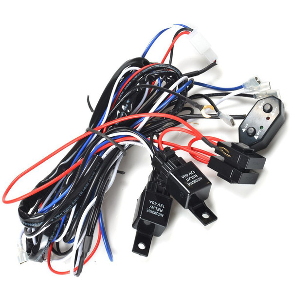 kawell� cm - ws12d 2 legs wiring harness of double color light bar include  plug