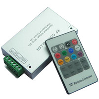 Wholesale rf controller 12v for sale - Group buy High Quality RF Remote Controller DC12V V A W Key remote For RGB SMD LED Strip Controller