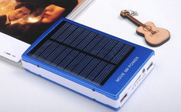 Wholesale Laptop Portable Battery - 30000mAh Portable Solar Battery Power Bank Panel External Charger Dual Charging Ports Emergency Battery for Laptop Cellphone Power Bank 10pc