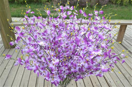 """Orchidee arancioni online-Fiori di seta Oncidium 94cm / 37 """"Lunghezza Orchidea artificiale Bianco / Giallo / Rosa / Viola / Verde / Arancio per fiori di nozze"""