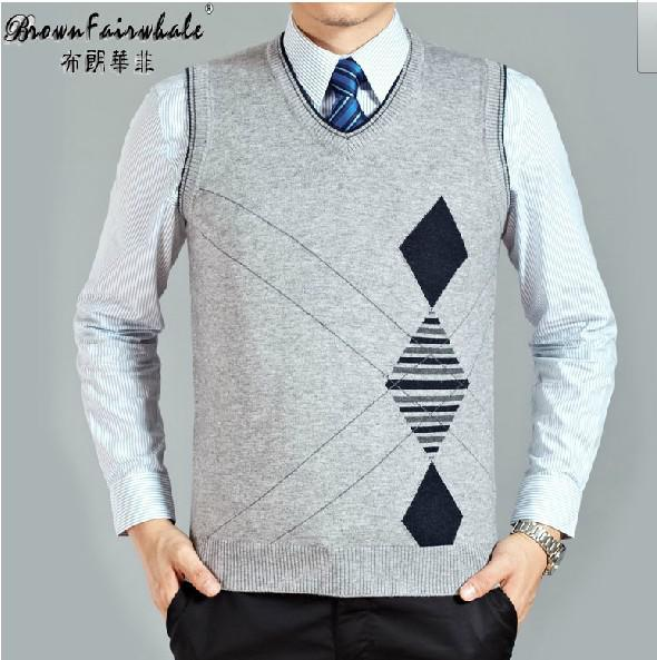 International Brand Men Brown Fairwhale Autumn New Fashion Cashmere