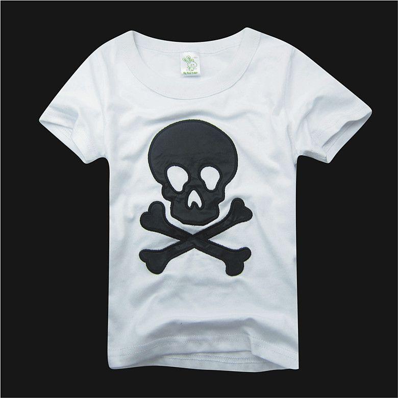 Garçons t-shirts chemises tops crâne t-shirts coton jersey bébé garçons t-shirts tenues B016
