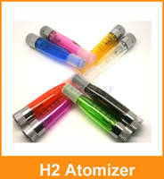 Wholesale Colorful Ce4 Atomizer Cartomizer Ego - New GS-H2 Atomizer Clearomizer Colorful GS H2 Atomizer E-Cigarette Replace CE4 Cartomizer All For eGo-T eGo 510 Batter Series