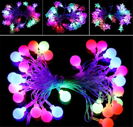 Wholesale Lighted Crystal Christmas Tree - 28 Heads Ice Strings Crystal Clear Strings LED Lantern String Lights LED Strings Christmas Strings Decorative Lights Christmas Tree Lights