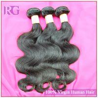 6a insan saçı vücut dalgası toptan satış-Bakire Brezilyalı Saç Vücut Dalga Sınıf 6A 3pcs çok 100g / adet Doğal Renk boyanabilme ağartılabilir 8