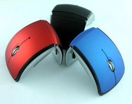 Wholesale Arc Optical - Wholesale-Mini USB 2.4Ghz Foldable Folding Snap-in Transceiver Optical Arc Wireless Mouse Mice for PC Laptop Computer
