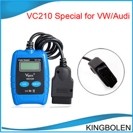 Wholesale Vag Can Bus Scanner - VC210 VAG CAN BUS Fault OBD OBD2 Code Reader Scanner ABS Air Bag Reset VC210 Car Accessory Auto diagnostic tool for Audi VW Free shipping