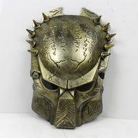 Wholesale Aliens Movie Masks - Alien & Predator Halloween Mask Cosplay Masquerade Mask Party Mask Movie Theme mask Predator avpr lone wolf mask Silver Gold Masks
