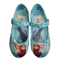 Wholesale Wholesale Shoes For Little Girls - Frozen Elsa Princess Shoes for Girls Size 25-30 Little Girl Frozen Shoes Blue Frozen Girl Shoes For Frozen Dresses