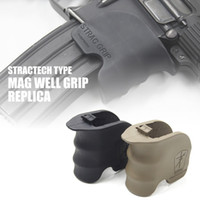Wholesale M4 Tan - Tactical Combat STRAC Magazine Well Grip for M4 Black Tan
