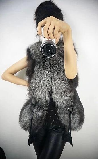 Kamizelki mody Kamizelki Kobiety Fur Skórzany Płaszcz Kamizelka Odzieży Odzież Odzież Black