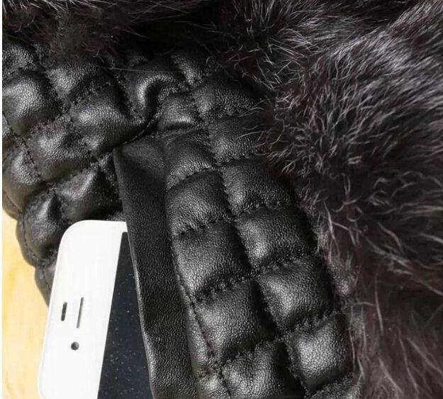 Mode Jacke Westen Frauen Pelz Ledermantel Weste Oberbekleidung Bekleidung Bekleidung schwarz