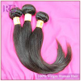 Wholesale 5a Wholesale Virgin Extensions - Grade 5A virgin human hair unprocessed human Brazilian hair Peruvian hair Malaysian Hair Indian hair Color 1B hair Extensions