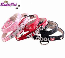Wholesale Diy Leather Dog Harness - Wholesale-Retail Personalized DIY Name Croc PU Leather Crystal Buckle Dog Pet Harness! (Gift letters & charms) 10% off for 2pcs!