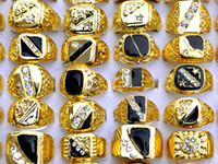 Wholesale men's rings for sale - Rings Ring Rhinestone Gold Plated Men s Mixed Jewelry Free ship