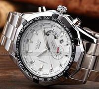 relógio de homens de luxo vencedor venda por atacado-Vencedor Da Marca de Luxo Homens Relógio Clássico de Aço Inoxidável Automático Auto Vento Esqueleto Relógios Mecânicos relogio masculino