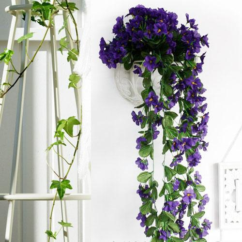 60cm lifelike violet orchid ivy artificial flower hanging plant silk 60cm lifelike violet orchid ivy artificial flower hanging plant silk garland vine african violet silk flower garland silk garland garland flower online with mightylinksfo