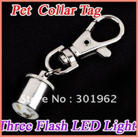 Gros-50pcs / pack Pet Dog Cat Flasher Clignotant LED Tag Safety Collar