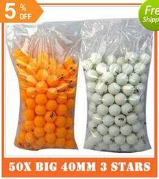 Wholesale Pong Stars - Free Shipping 50X Big 40mm 3 Stars Best Table Tennis Balls Ping Pong Balls Ping-Pong Big Balls