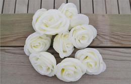 Wholesale Quality Photographs - Silk Flower Head Rose 8cm * 5cm 300P High Quality Artificial Roses for DIY Wedding Supplies Photograph Props 9 Colors Available
