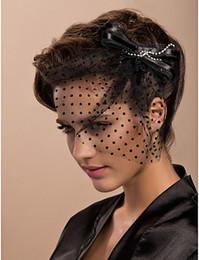 Small Veils Canada - Bridal Headdress Wedding Hat Bowknots Headdress Bridal Hair Accessories Flower Hat Blending Small Available Veil Hat
