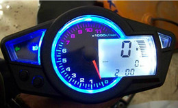 Wholesale Motorcycle Odometer Speedometer Tachometer - Motorcycle modified instrument KOSO LCD digital Odometer Speedometer suitable for various models Donkey Kong PS250 Wheel 10-21 14x1000 r min