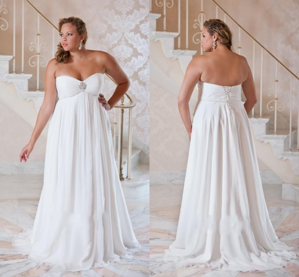 Plus Size Wedding Dresses 2016 Cheap White Sexy Backless