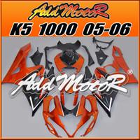 Wholesale Orange Gsxr Fairings - Addmotor Injection Mold Fairing For Suzuki GSXR1000 GSX-R 1000 GSXR 1000 2005 2006 05 06 K5 Orange Black S1554+5 Free Gifts