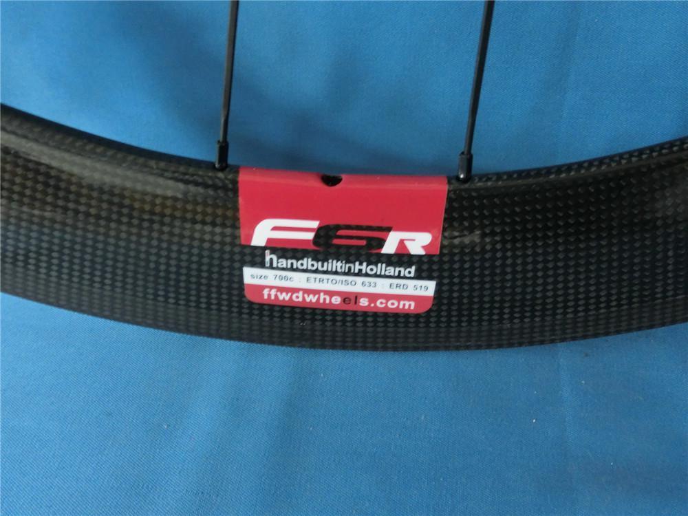 Mate Błyszczący Wykończenie FFWD Fast Forward F6R 700C 60mm Biały Czerwony Pełny Carbon Road Rower Wheelset