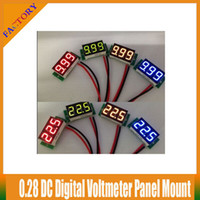 "Wholesale Cheap Voltmeters - 0.28"" Digital Voltmeter DC 3.50-30V LED Digital Current Panel Two Wires Vehicles Motor Voltage Panel Meter Led Display Red Color Cheap Price"