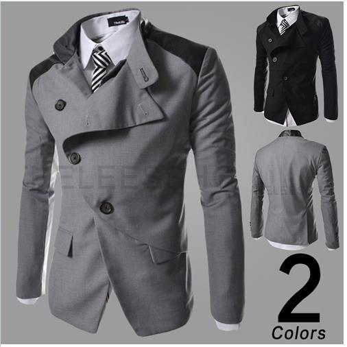 Online Cheap British Slim Men'S Suits,Irregular Leisure Blazer For ...